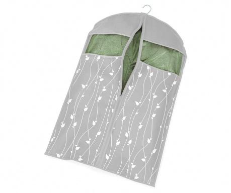 Θήκη ρούχων Leaves Grey 60x100 cm