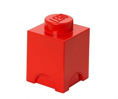 Škatla s pokrovom Lego Square Red