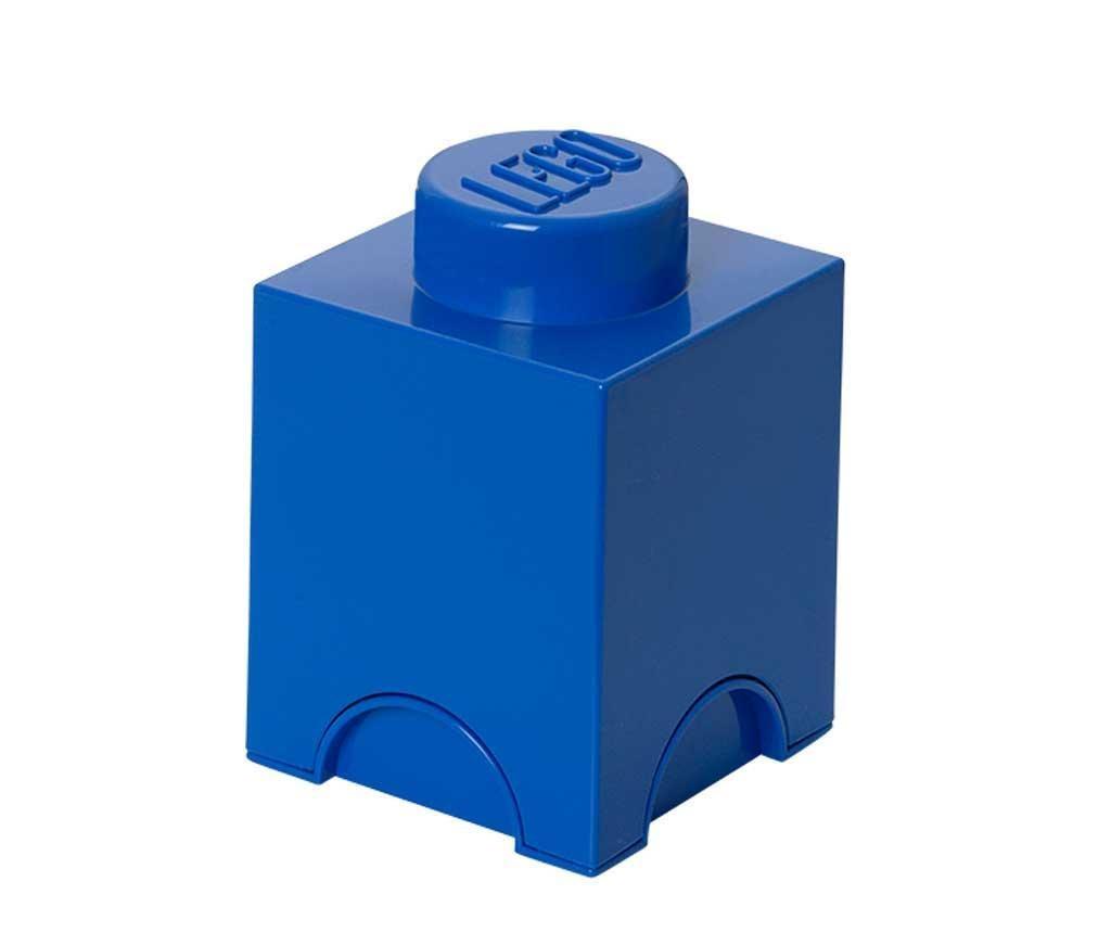 Kutija s poklopcem Lego Square Blue