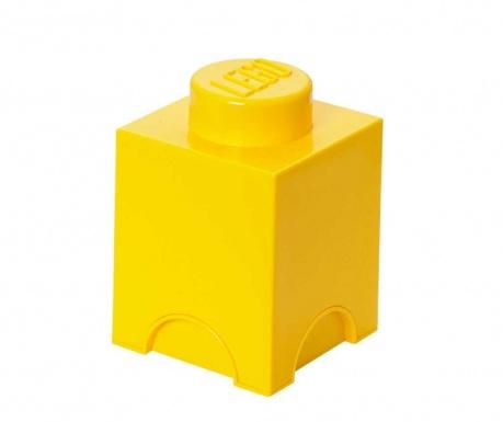 Cutie cu capac Lego Square Yellow