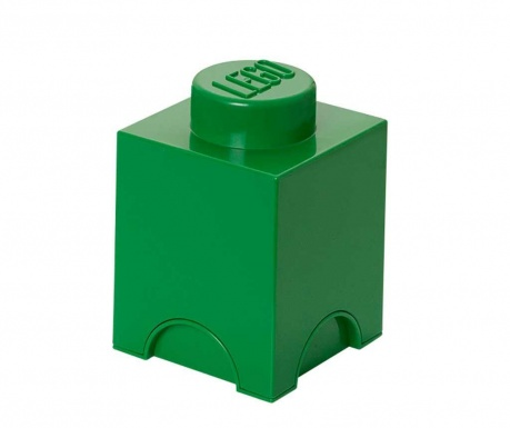 Krabica s vekom Lego Square Dark Green