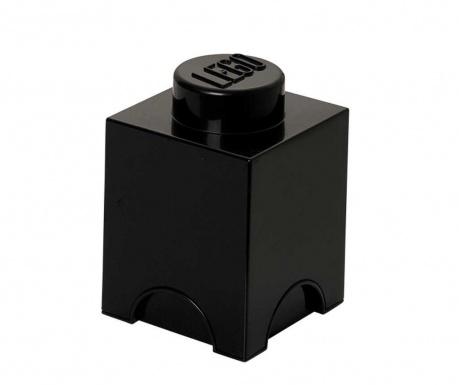 Pudełko z pokrywką Lego Square Black