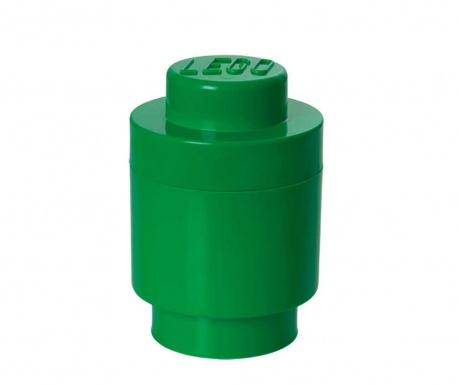 Krabica s vekom Lego Round Dark Green