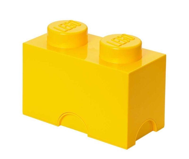 Cutie cu capac Lego Rectangular Yellow