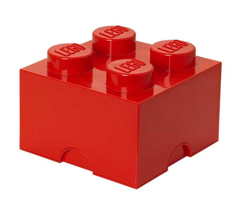 Cutie cu capac Lego Square Four Red