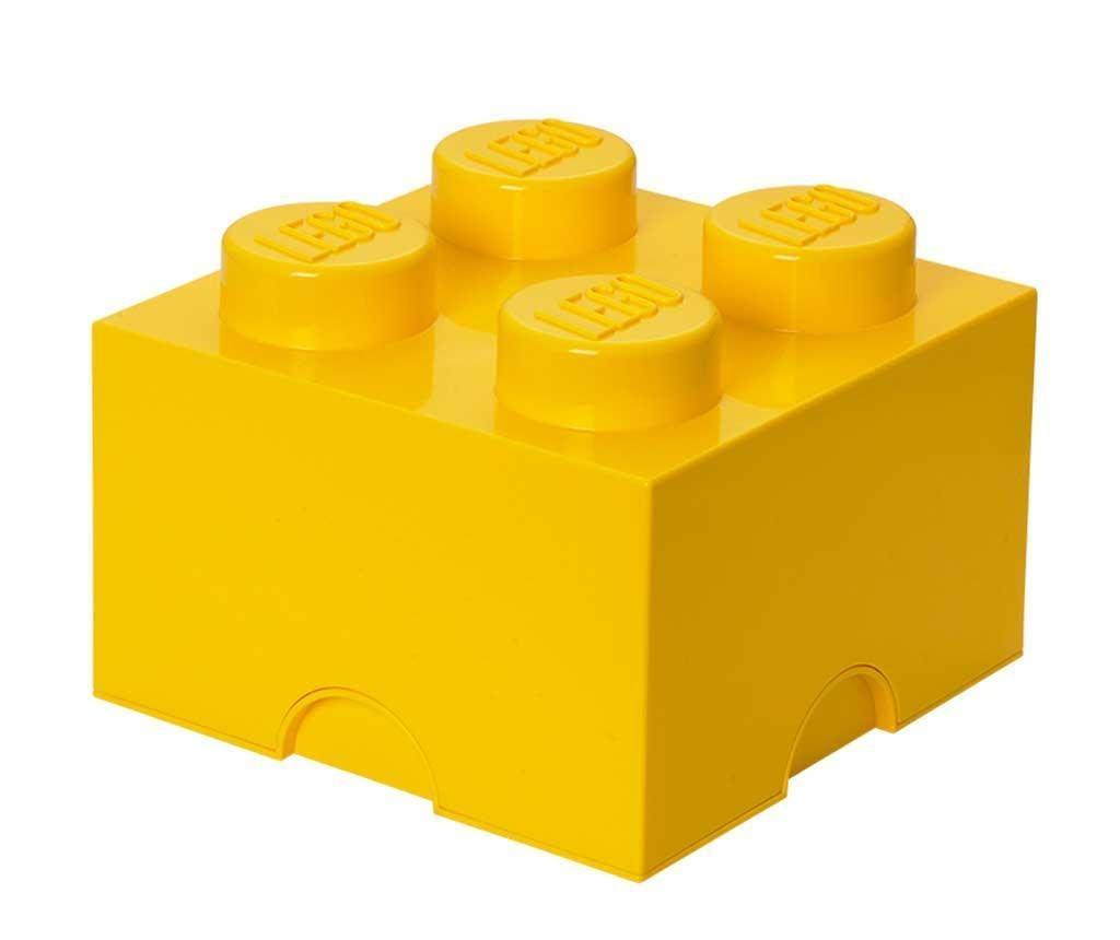 Kutija s poklopcem Lego Square Four Yellow