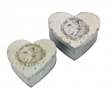 Set 2 kutije s poklopcem Heart Angels