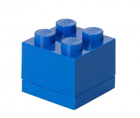 Cutie cu capac Lego Mini Square Blue