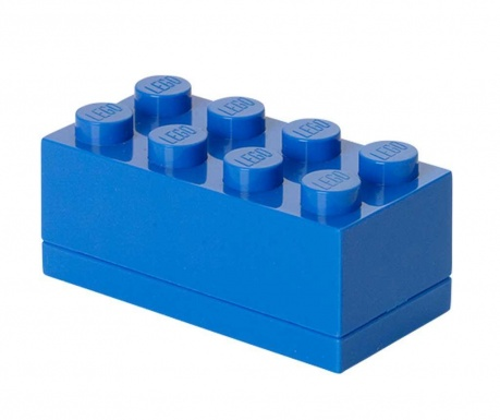 Lego Mini Rectangular Blue Doboz fedővel