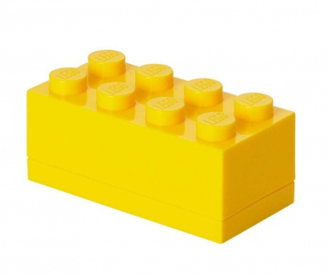 Lego Mini Rectangular Yellow Doboz fedővel