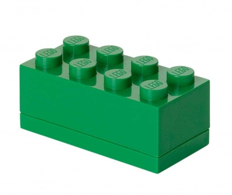 Krabica s vekom Lego Mini Rectangular Dark Green