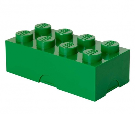 Lego Dark Green Uzsonnás doboz