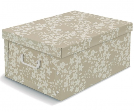 Κουτί με καπάκι για αποθήκευση Spring Beige L