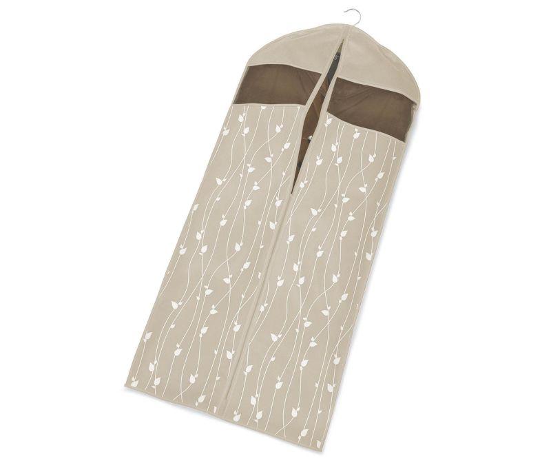 Husa pentru haine Beige Leaves 60x137 cm