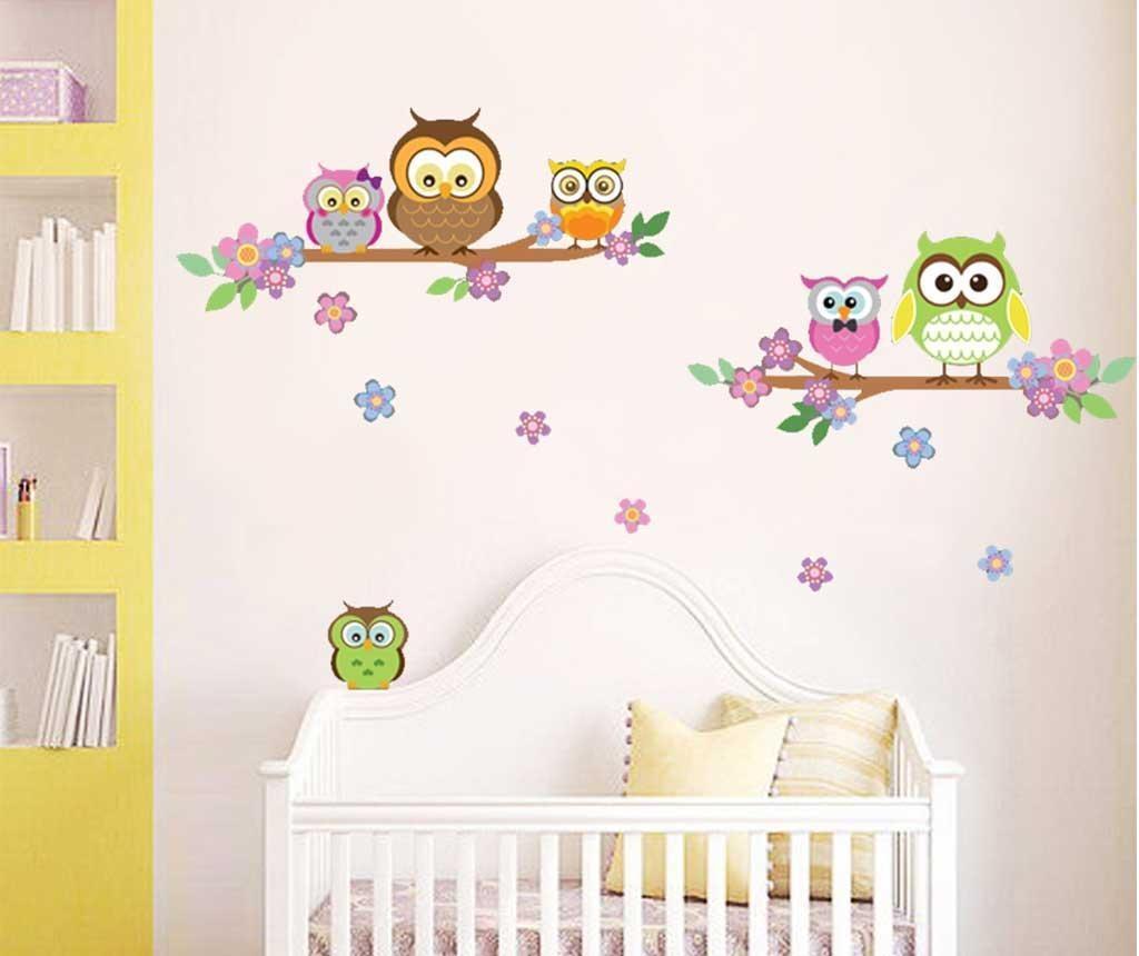 Naljepnica Colourful Family of Owls