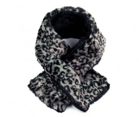 Leopard Print Black Sál