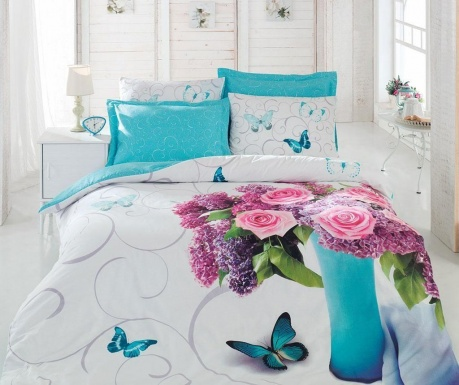 Komplet pościeli King Ranforce 3D Meri Turquoise