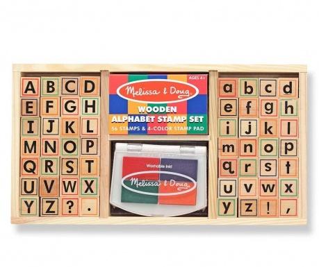 Set 56 stampile si tusiera Colourful Alphabet