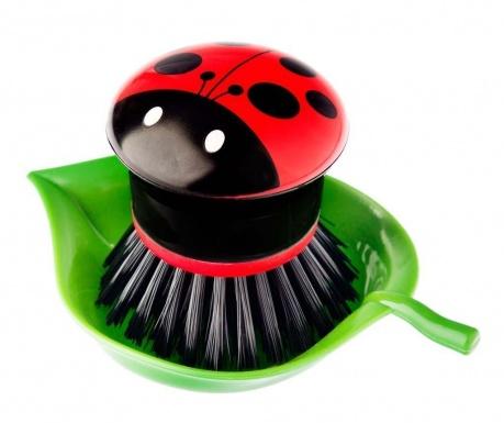 Βούρτσα για τα πιάτα με βάση Ladybug