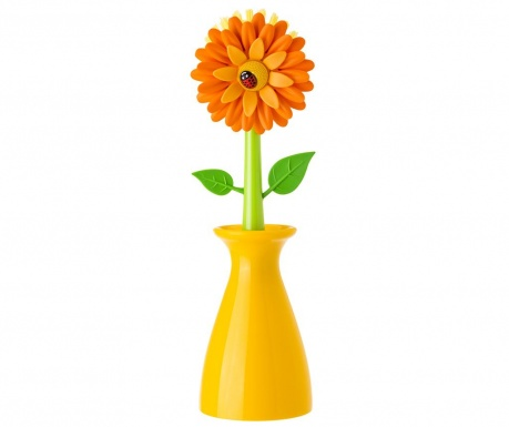 Βούρτσα για τα πιάτα με βάση Flower Power Orange