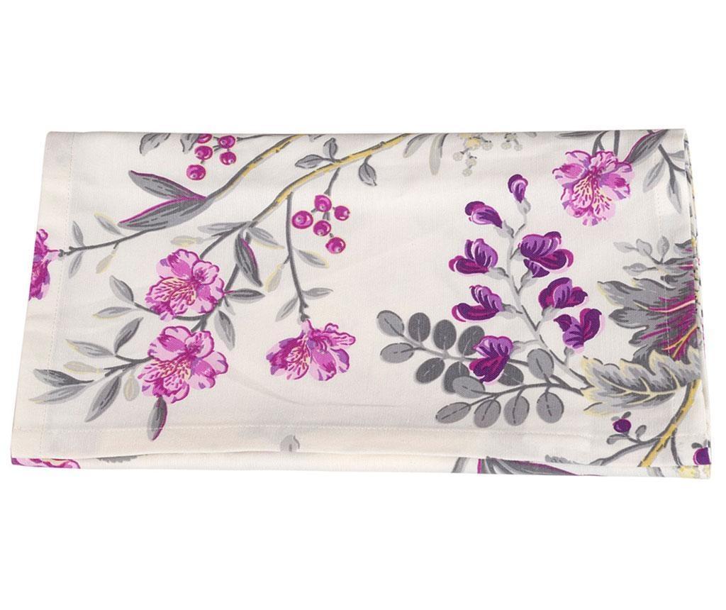 Stredový obrus Bloom Purple 40x170 cm