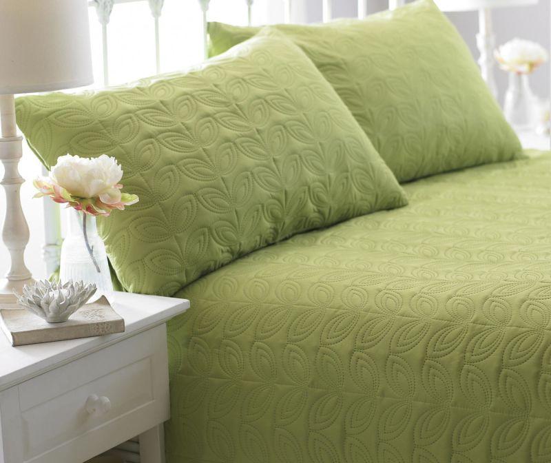 Set cuvertura matlasata King Leaf Green
