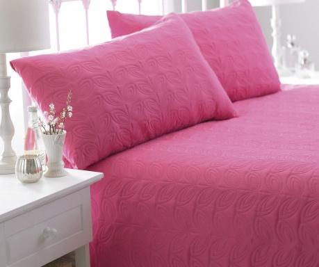 Zestaw pikowany na łóżko King Leaf Pink