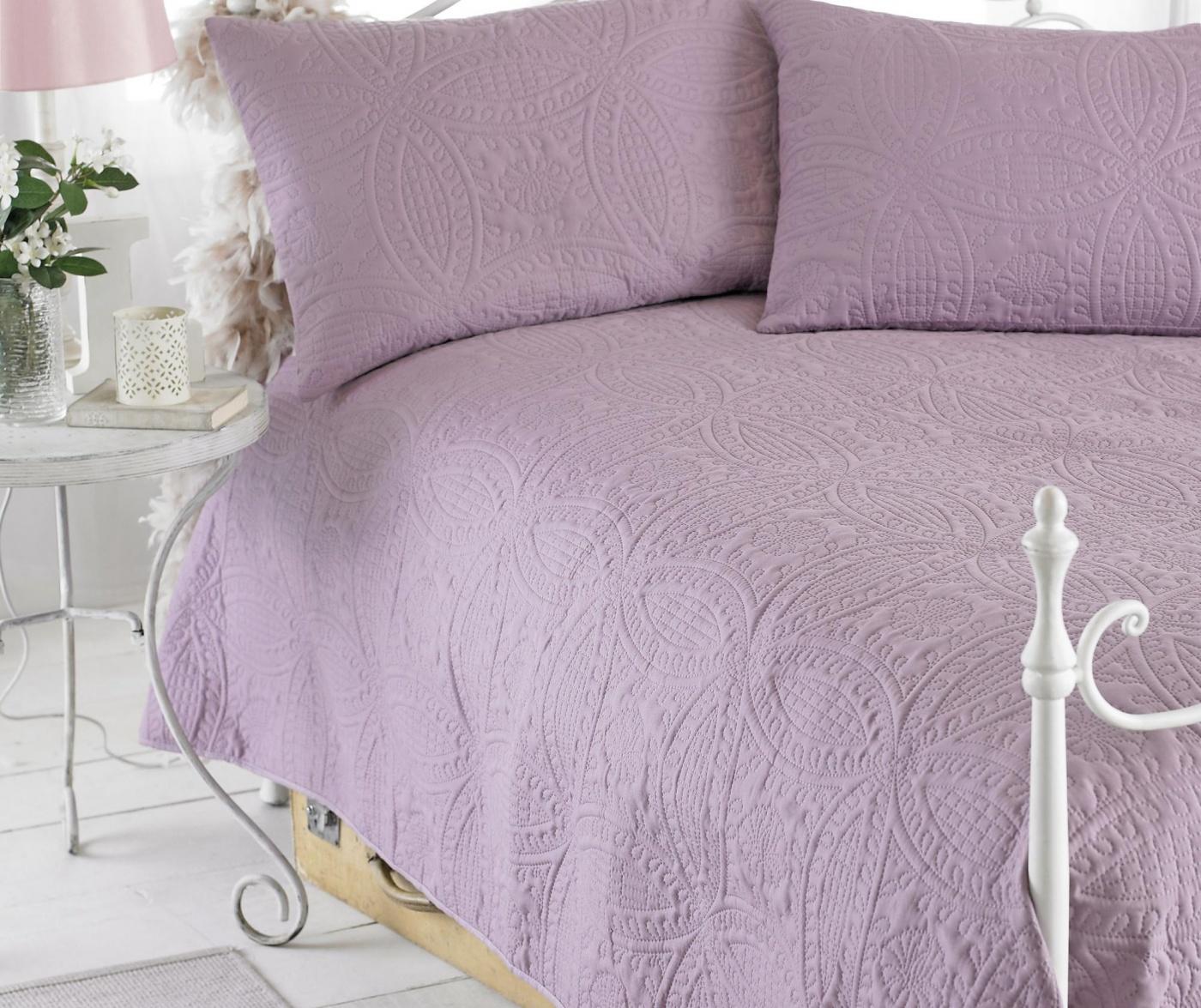 Set cuvertura matlasata King Parisienne Purple
