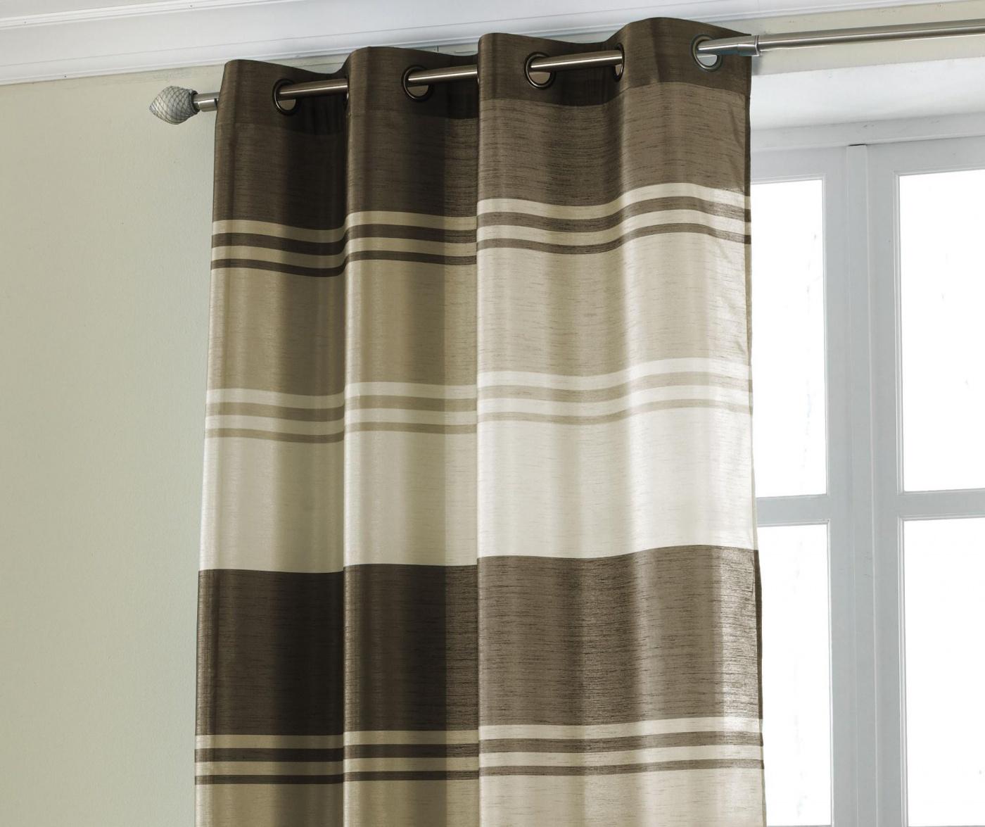 Zavesa Stripe Brown 145x228 cm