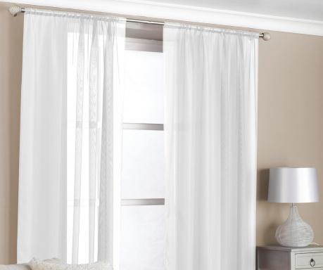 Zestaw 2 zasłon Slot White 150x229 cm