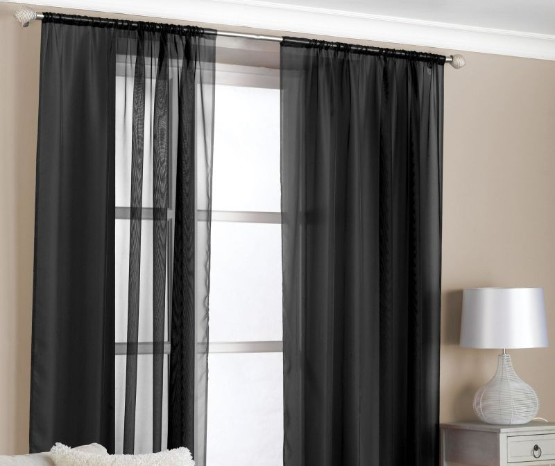 Set 2 perdele Slot Black 150x229 cm