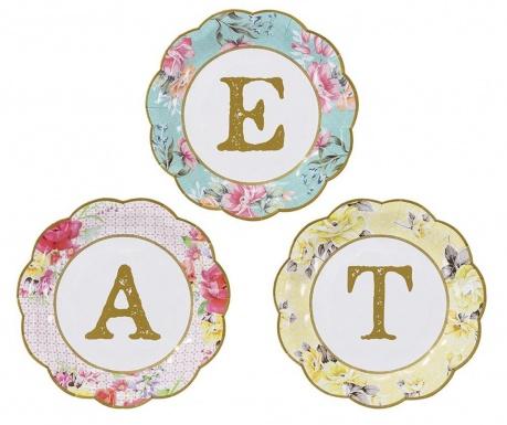 Set 12 tanjura za jednokratno korištenje Eat