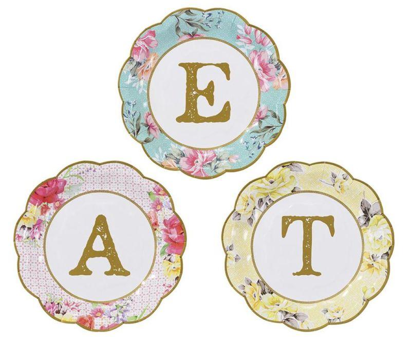 Sada 12 jednorázových tanierov Eat
