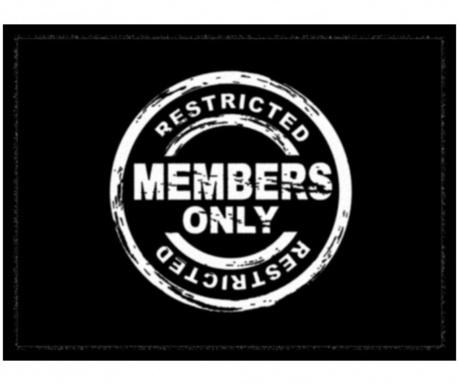 Χαλάκι εισόδου Members Only 40x60 cm