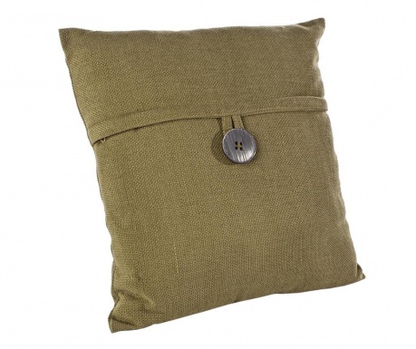 Dekorační polštář Button Moss 45x45 cm