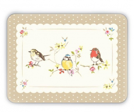 Birds World 4  db Tányéralátét 21.5x29 cm