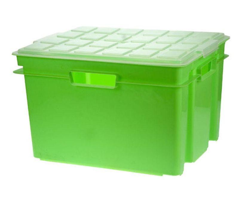 Cutie cu capac pentru depozitare Style Green