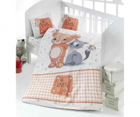 Komplet pościeli do łóżeczka Ranforce Lovely Pets