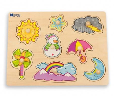 Hra typu puzzle 8 dielov Weather