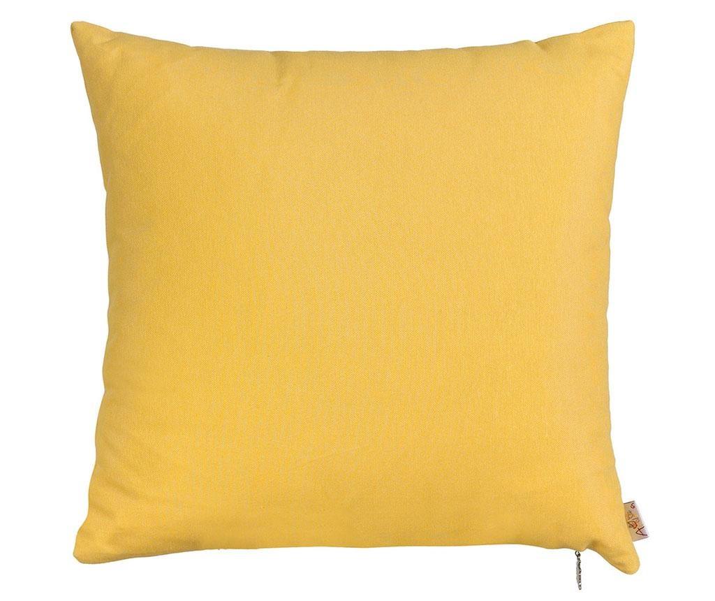 Fata de perna Thoughts Yellow 41x41 cm