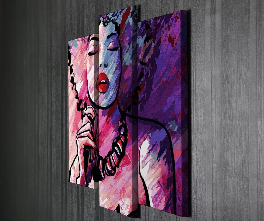 Set 3 tablouri Romantic Woman