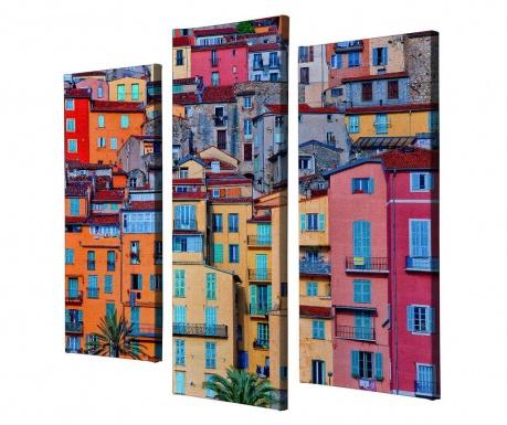 Σετ 3 πίνακες Colorful City