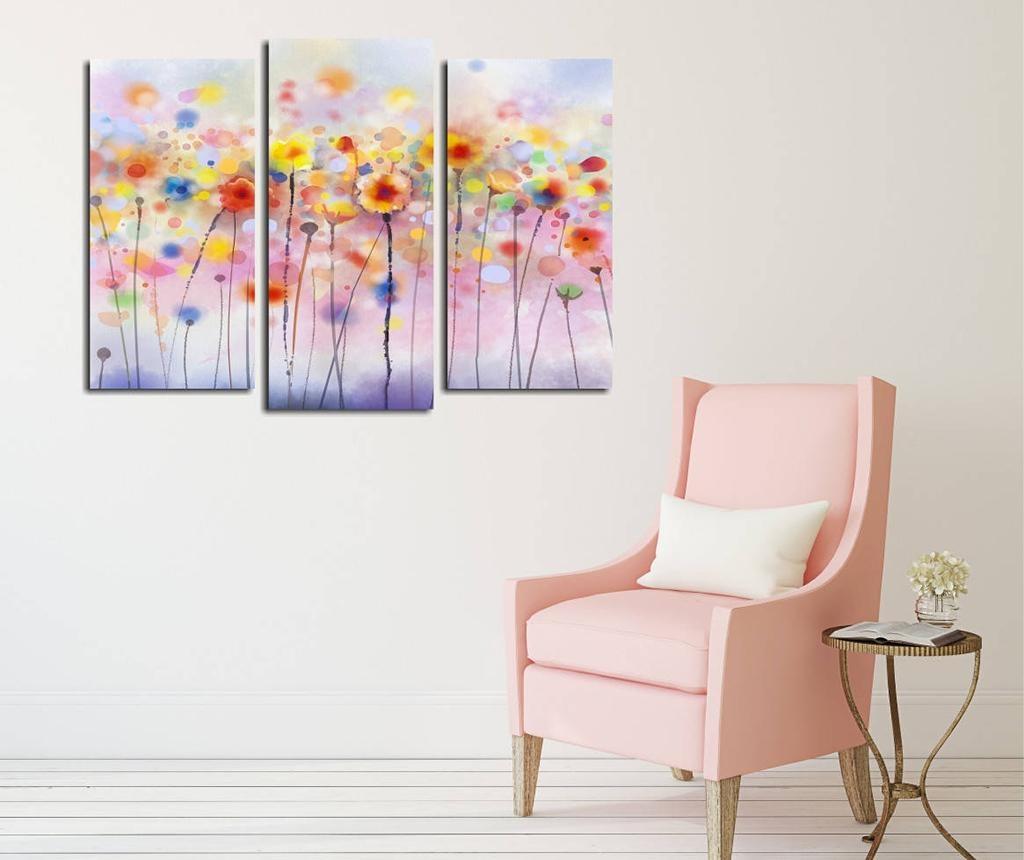 Set 3 tablouri Flower Field