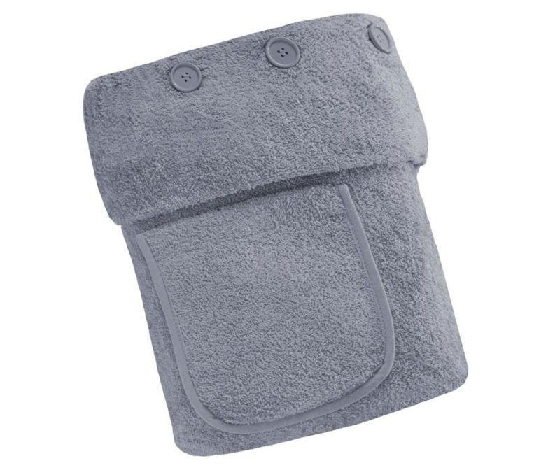 Kupaonski ručnik Buttons Silver 70x140 cm