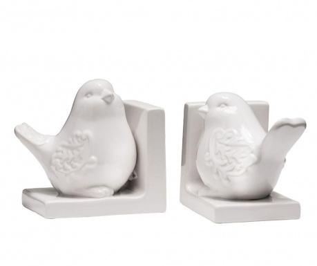Birds White 2 db Könyvtámasz