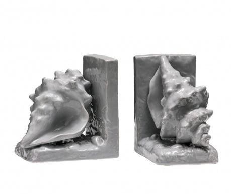 Set 2 suporturi pentru carti Conch Grey