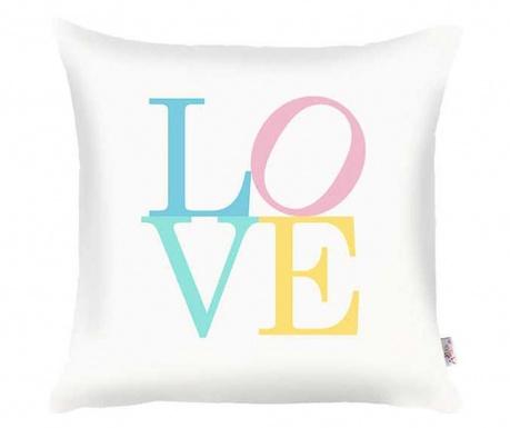 Jastučnica Love White Blue Pink 35x35 cm
