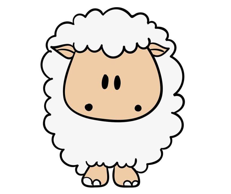 Nalepka Funny Sheep