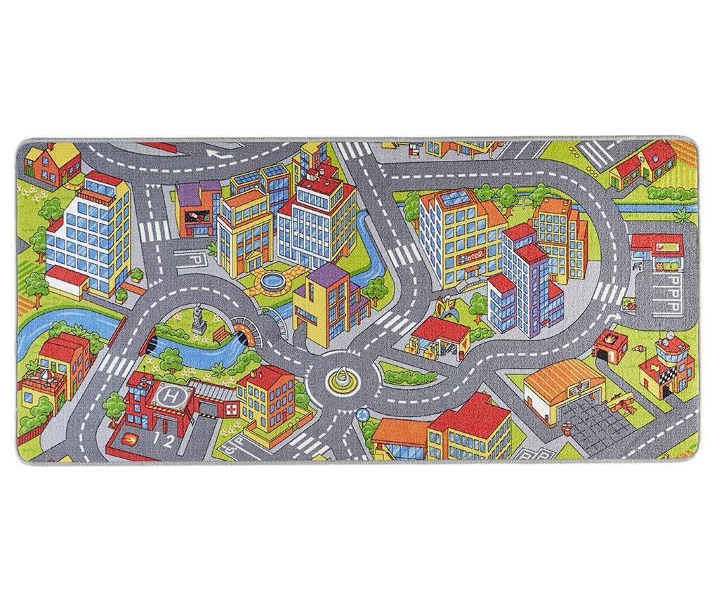 Covor de joaca Smart City Grey 90x200 cm