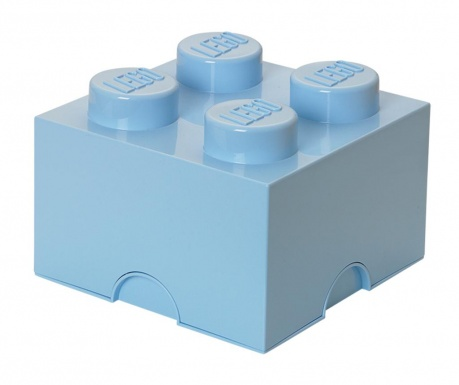 Krabica s vekom Lego Square Four Blue